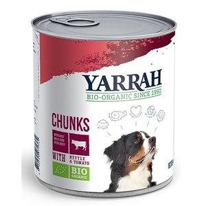 Yarrah 6x yarrah dog blik brokjes vlees in saus met brandnetel en tomaat
