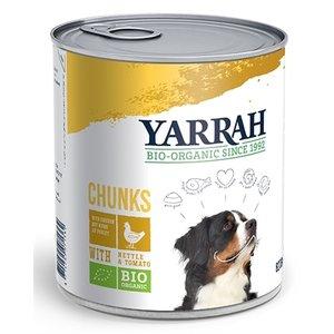 Yarrah 6x yarrah dog blik brokjes kip in saus met brandnetel en tomaat