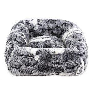 Hugs Hugs hondenmand clover vierkant grijs