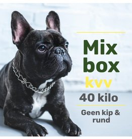 Mixpakket 40kg zonder kip en rund