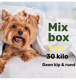 Mix pakket zonder Kip & Rund 30kg