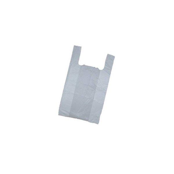 Hemddraagtassen. 27+12x48 cm. HDPE. 11/12 my. Wit. 2000 stuks