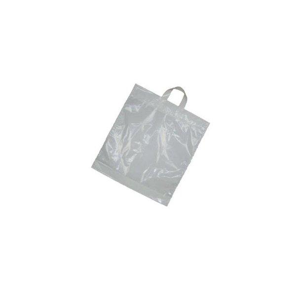 Plastic lusdraagtassen, 45x51 cm, 55 my, wit, 250 stuks