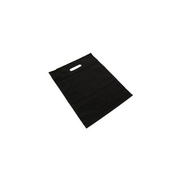 plastic draagtassen, 35x44 cm, 50 my, zwart, 500 stuks