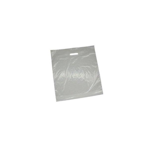 plastic draagtassen, 60x61 cm, 60 my, wit, 200 stuks