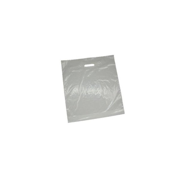 plastic draagtassen, 37x44 cm, 50 my, wit, 500 stuks