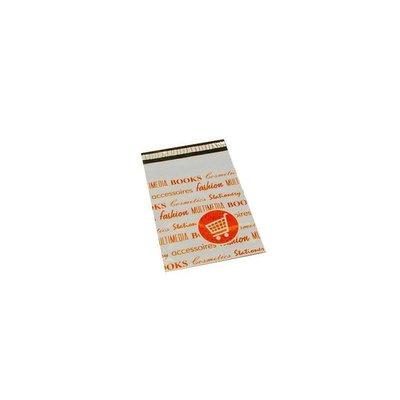 Bedrukte verzendzakken oranje, 25x35+5 cm
