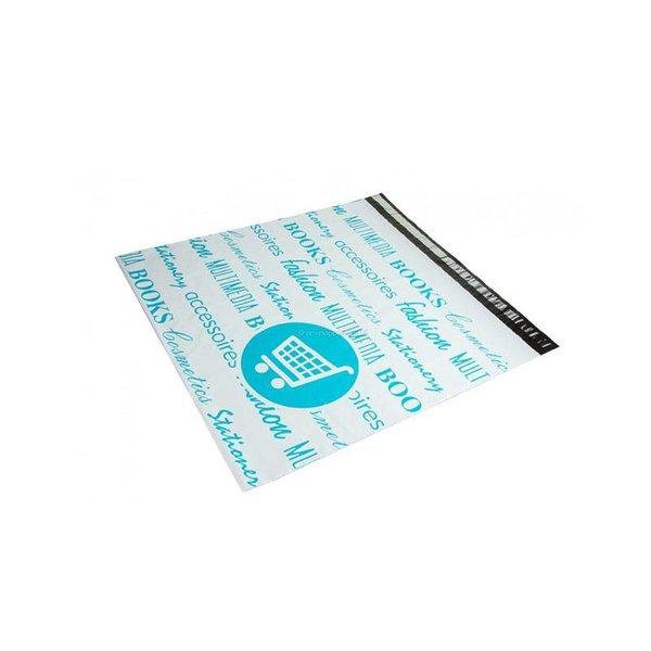 Bedrukte verzendzakken, blauw, 55 x 55 + 5cm