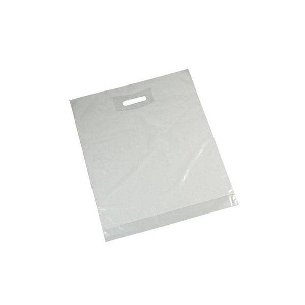 plastic draagtassen, 37x44 cm, 50 my, transparant
