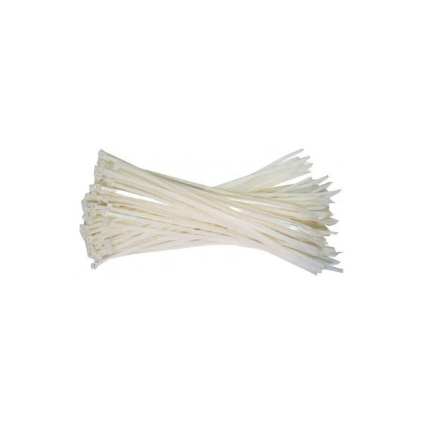 Cable ties, 368x7.6mm, Transparent