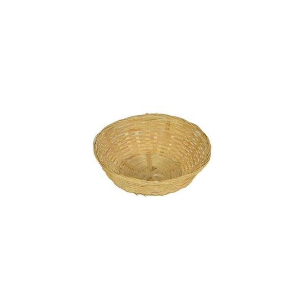 Bamboe mandje Ø22 cm, 10 stuks