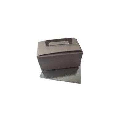 Bonbon box, incl handle. In various colors.