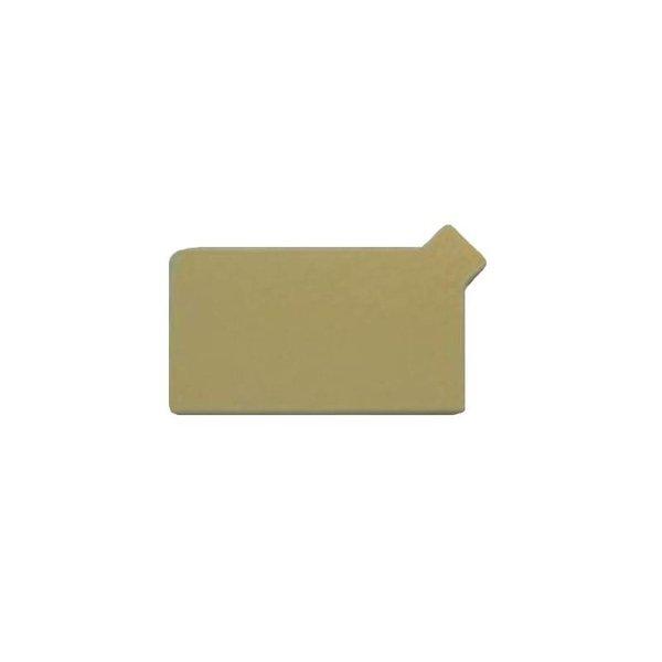 Gouden onderlegger met lipje, 55x90mm, 250 stuks