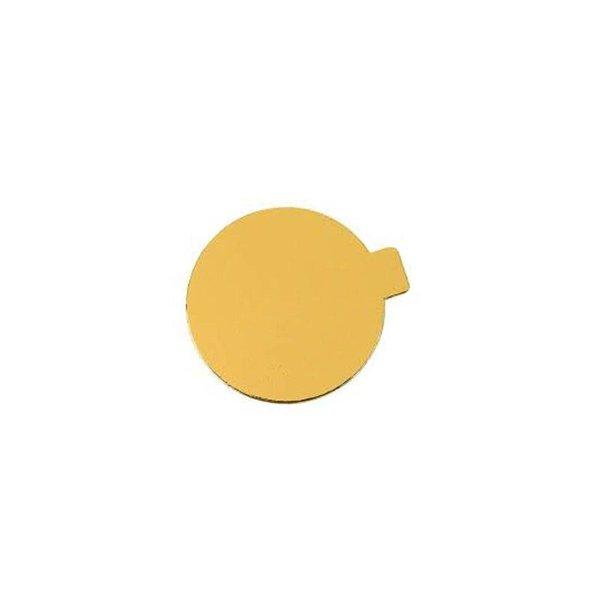 Gouden onderlegger met lipje, Ø 8 cm, 250 stuks per doos