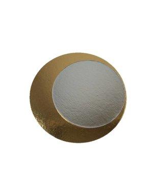 Kartonnen rondel, Ø 16 cm, goud / zilver