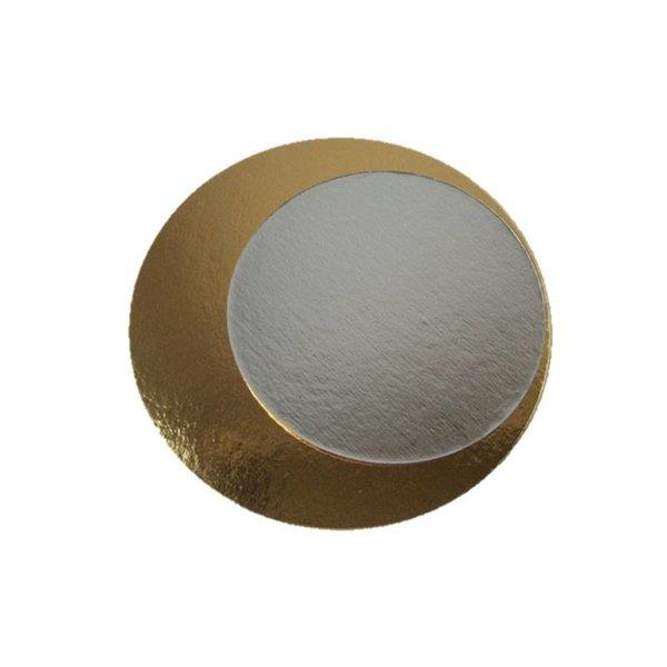 Kartonnen rondel Goud / zilver, Ø 16 cm