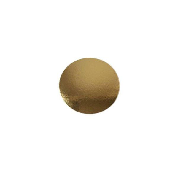 Cardboard roundel Gold, Ø14cm