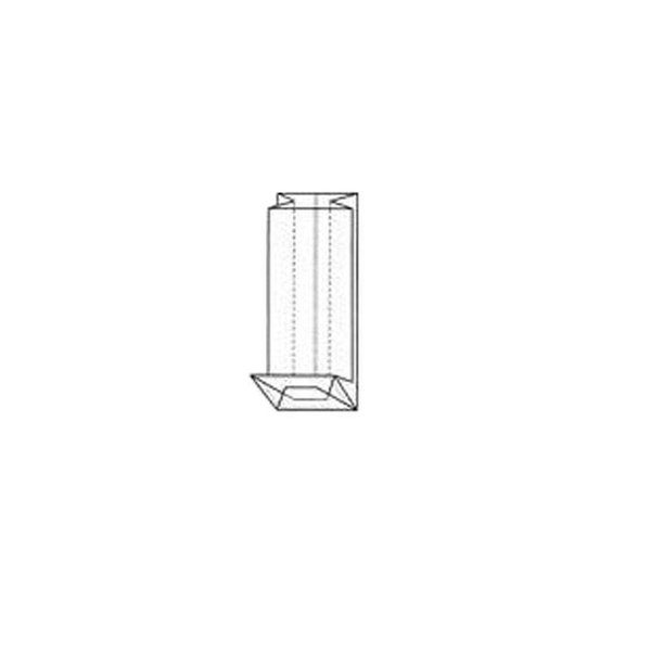 PP Blokbodemzak, 80x40x270 mm, 40 my