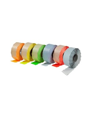 prijsetiket 26 x 12 mm fluor oranje afneembaar