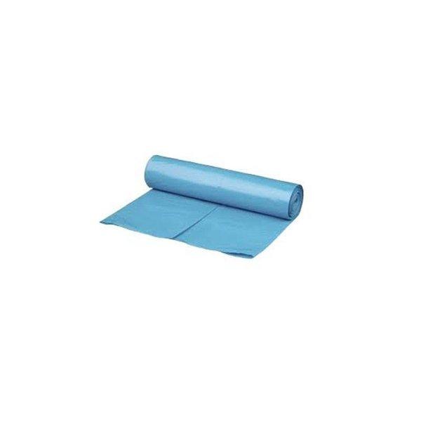 HDPE afvalzak 70x110cm blauw, T25 (500 st per doos)