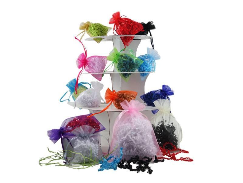 Organza bags with satin ribbon