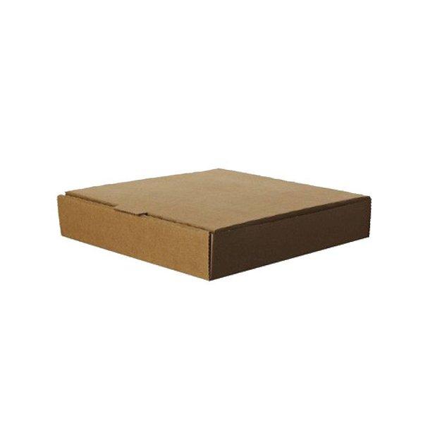 """Eco"" pizzadozen, bruin kraft, 23 x 23 x 4 cm"