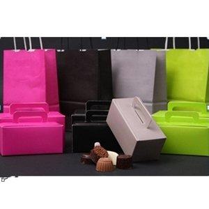 Papieren draagtassen,  div. kleuren, gedraaid handvat