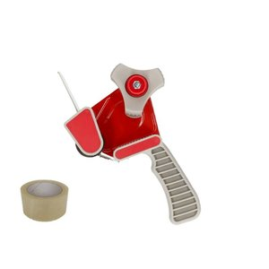 Tape dispenser Rood, met rem