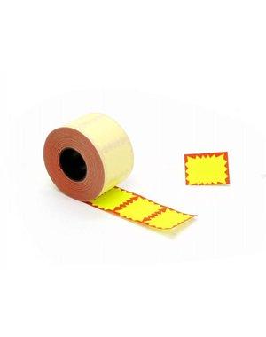 prijsetiket maxi 37 x 28 mm geel-rood