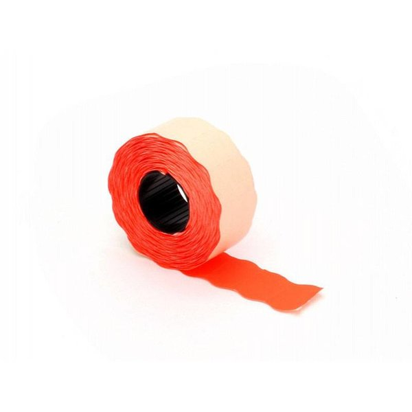 prijsetiket 26 x 16 mm fluor rood diepvries