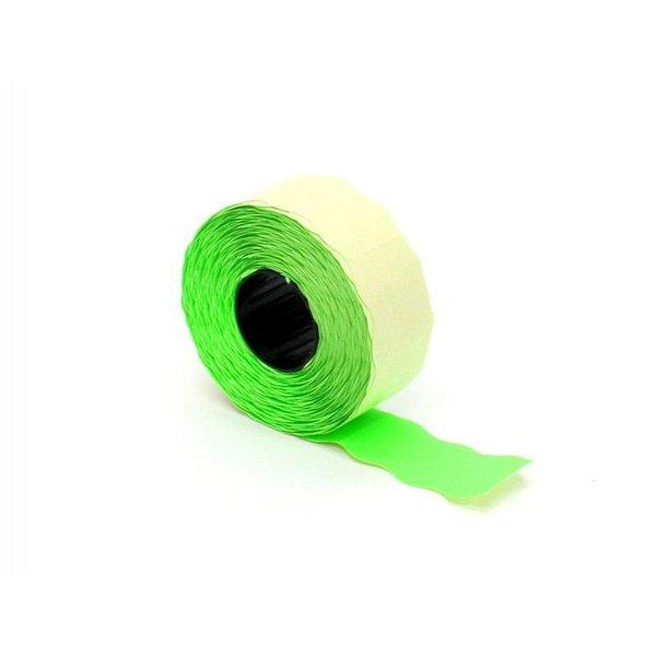 prijsetiket 26 x 12 mm fluor groen permanent