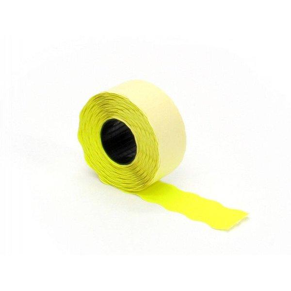 prijsetiket 26 x 12 mm fluor geel permanent
