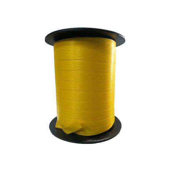 Krullint, paperlook, geel, 7,5mm x 200m