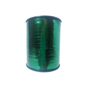 Curl ribbon, dark green metallic
