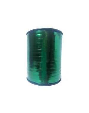 Curl ribbon, dark green metallic