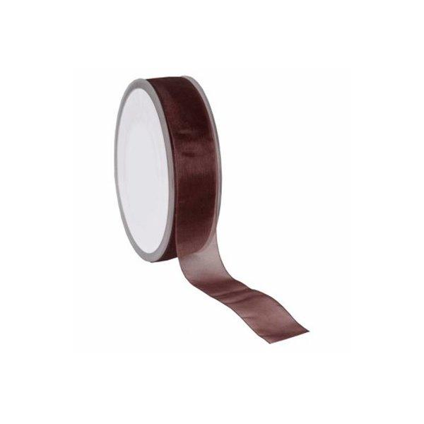 Organza lint, Woven Edge, 25mmx25mtr, Bruin