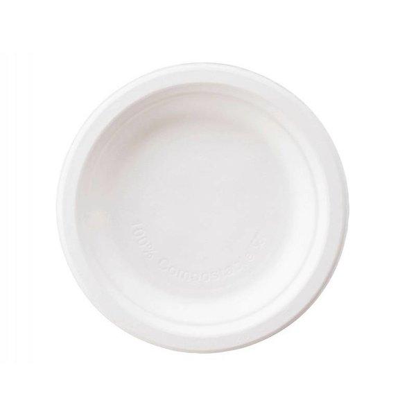 Dessert bord Ø 15 cm, gemaakt van suikerriet