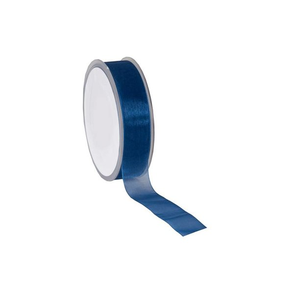 Organza lint, Woven Edge, 25mmx25mtr,  Royal Blue
