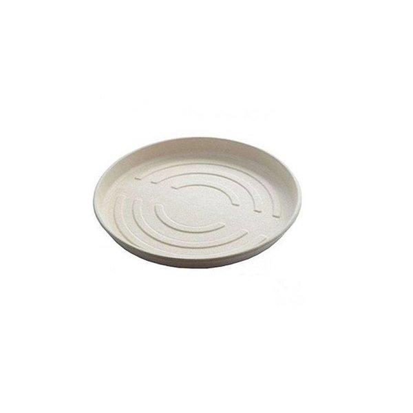 Bagasse pizza box, bodem, 35,6 x 35,6 x 3,4 cm, beige, Ecoecho