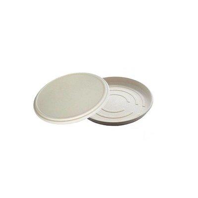 Bagasse pizza box, bottom, 35.6 x 35.6 x 3.4 cm, beige, Ecoecho