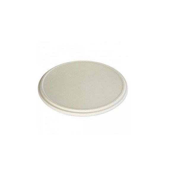 Bagasse pizza box, lid, 35.6 x 35.6 x 1.9 cm, beige, Ecoecho