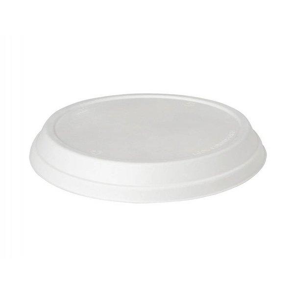 Deksel, wit, tbv Bagasse Bowl 177001 & 177003