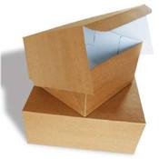 Cake box, 27x27x10 cm, Duplex, environmental kraft, 94 pcs per box,  lightly damaged