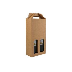 Bottle box, brown kraft