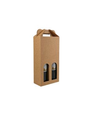 Bottle box, brown kraft (2)