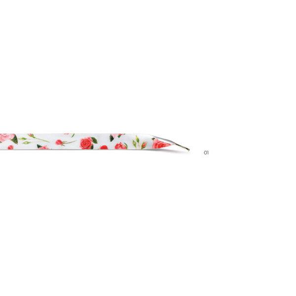 Zomerse veters in 3 designs:  Roos, Tulp, Pioenroos