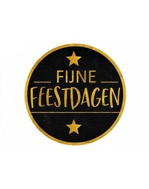 """Labels Ø 50 mm """"Fijne Feestdagen"""""""