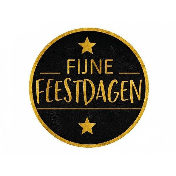"""Etiketten Ø 50 mm """"Fijne Feestdagen"""""""