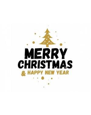 "Labels Ø 50 mm ""Merry Christmas"""