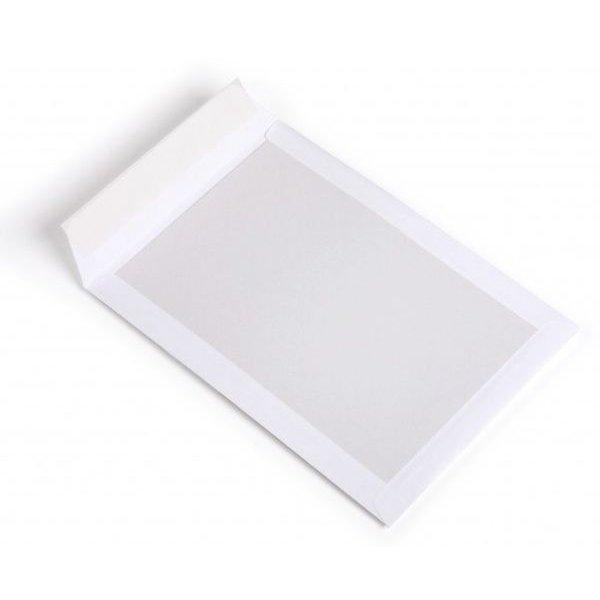 Kartonnen enveloppen, wit, 265x350mm